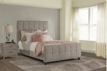 Sylvia Queen Bed - Luminata Silver