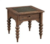 End Table W/drawer-embossed Top-turned Legs