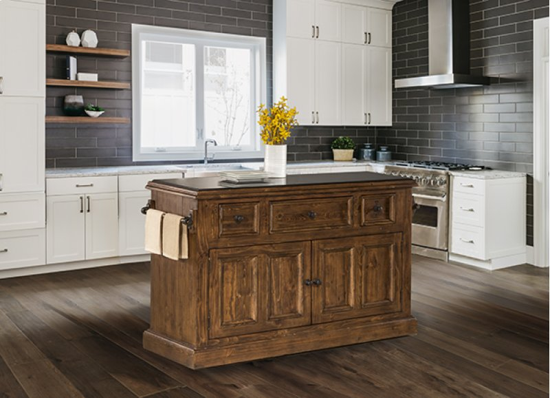 Tuscan Retreat® 3 Drawer 4 Door Large Granite Top Kitchen Island - Antique  Pine - 5225916W By Hillsdale Furniture In Scottsdale, AZ - Tuscan Retreat