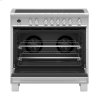 "Fisher & Paykel Induction Range, 36"", 5 Zones With Smartzone, Self-Cleaning"