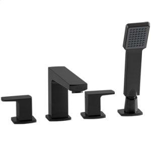4-Hole Deck Mount Tub Filler - Black Product Image