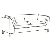 Sofa with Bronze Metal Leg