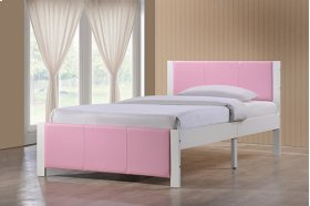Ventura Bed in a Box - White/Pink