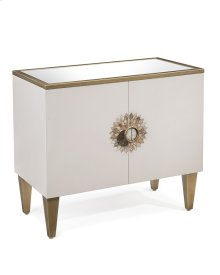 Tyrol Two-Door Side Cabinet in Alabaster