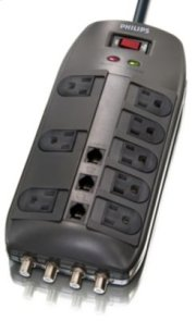 Philips Surge protector SPP1135WA 8 outlets Product Image
