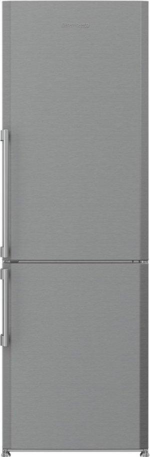 "24"" 13 cu ft bottom freezer fridge, stainless steel"