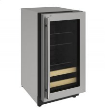 "2000 Series 18"" Beverage Center With Stainless Frame (lock) Finish and Right-hand Hinged Door Swing"