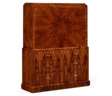 Art Deco Style Secretaire with Stainless Steel (High Lustre)