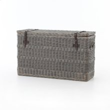 Wicker Console Trunk