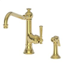 Forever Brass - PVD Single Handle Kitchen Faucet with Side Spray