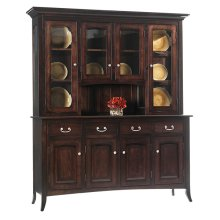 4-Door Shaker Hutch Buffet