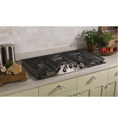 "GE® 36"" Built-In Gas Cooktop"