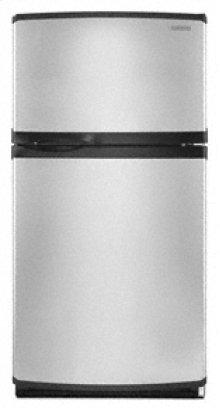 "21.7 Cu. Ft. 32 1/2"" Width Top Mount Contoured Doors Integrated Handles Stainless Steel(Stainless Steel)"
