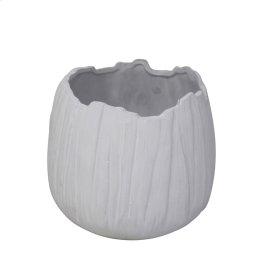 "Ceramic 7"" Organic Planter, Matte White"