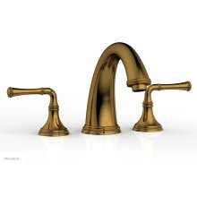 BEADED Deck Tub Set - Lever Handles 207-40 - French Brass