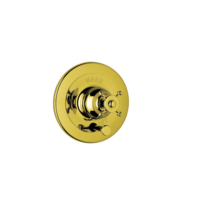 Inca Brass Perrin & Rowe® Georgian Era Pressure Balance Trim With Diverter with Georgian Era Style Solid Metal Lever