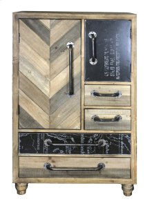 Rustic Wood Chest, Natural