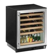 "Stainless Field reversible 1000 Series / 24"" Wine Captain® / Signature Triple Temperature Zone Design"