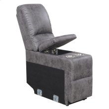 Console W/stainless Steel Cup Holder-pu Charcoal