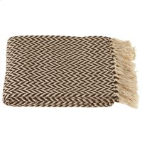 Chocolate & Cream Arrow Stripe Throw. Product Image