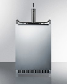 Built-in Undercounter Frost-free Beer Dispenser With Stainless Steel Wrapped Door, Digital Thermostat, and Complete Tap Kit