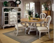 Wilshire 7pc Round Dining Set Antique White