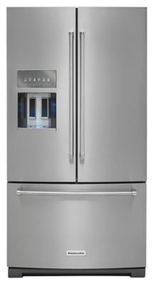 26.8 cu. ft. 36-Inch Width Standard Depth French Door Refrigerator with Exterior Ice and Water - Stainless Steel