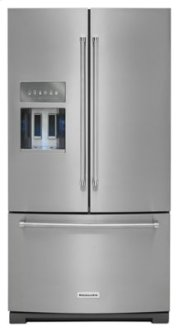 26.8 cu. ft. 36-Inch Width Standard Depth French Door Refrigerator with Exterior Ice and Water - Stainless Steel Product Image