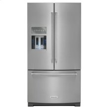 Floor Model - 26.8 cu. ft. 36-Inch Width Standard Depth French Door Refrigerator with Exterior Ice and Water - Stainless Steel