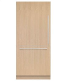 "Integrated Refrigerator Freezer, 36"", 16.8 cu ft, Panel Ready, Ice"