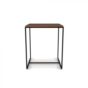 End table with steel frame