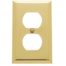 Polished Brass Beveled Edge Duplex