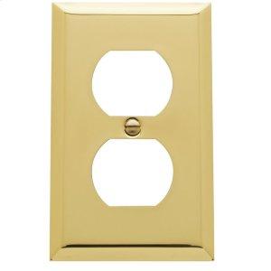 Polished Brass Beveled Edge Duplex Product Image