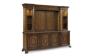 Continental Entertainment Console and Deck - Weathered Nutmeg