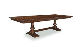 Whiskey Oak Trestle Dining Table