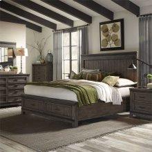 King California Storage Bed, Dresser & Mirror, N/S