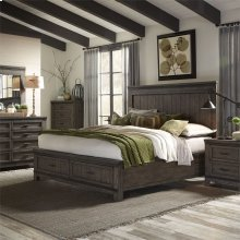 King California Storage Bed, Dresser & Mirror, N/S