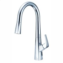 Chrome Vaughn Single Handle Pull-Down Kitchen Faucet