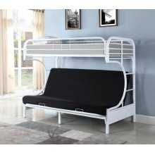 Atticus Contemporary White Bunk Bed