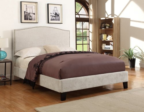 Emerald Home Colton Upholstered Bed Cream B126-09hbfbr-09