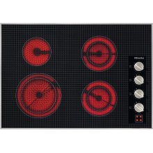 KM 5624 208V Electric cooktop 30 5/8 (775) wide for extremely convenient cooking.
