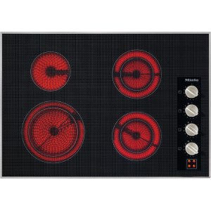 MieleKM 5624 240V Electric cooktop 30 5/8 (775) wide for extremely convenient cooking.
