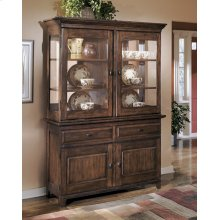 Dining Room Buffet Larchmont - Burnished Dark Brown Collection Ashley at Aztec Distribution Center Houston Texas