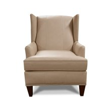 Leather Olive Chair with Nails 474ALN