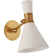 Visual Comfort S2640HAB-WHT Studio VC Liam 1 Light 7 inch Hand-Rubbed Antique Brass Articulating Sconce Wall Light, Small