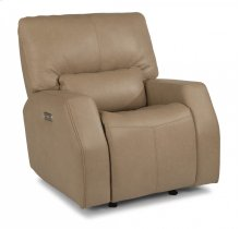 Cooper Leather Power Gliding Recliner with Power Headrest