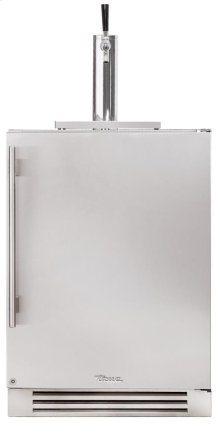24 Inch Stainless Solid Door Beverage Dispenser - Right Hinge Stainless Solid