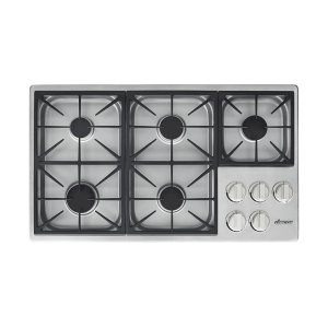 "Dacor36"" Dual Gas Cooktop, Liquid Propane/High Altitude"