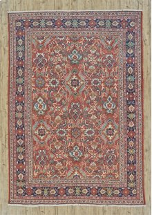 "MAHAL 000056900 IN RUST BLUE 8'-8"" x 12'-4"""