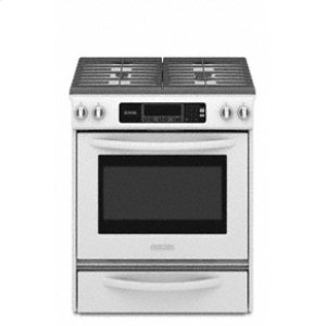 KitchenAidSlide-In Gas Range Thermal Oven Frameless Cooktop Full-Width Cast-Iron Grates Four Sealed Burners Architect® Series II